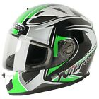 Nitro n2100 Cypher Motorcycle Motorbike Scooter Full Face Helmet Green Graphic