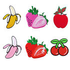 BANANA STRAWBERRY CHERRY APPLE FRUITS IRON ON PATCHES EMBROIDERED APPLIQUE DIY