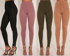 Womens High Waist Stretch Ribbed Striped Bottoms Trousers Ladies Leggings 8-14