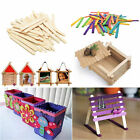Внешний вид - 50/100Pcs Wooden Popsicle Sticks for Party Kids DIYCrafts Ice Cream
