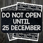 CHRISTMAS SELF ADHESIVE DO NOT OPEN GIFT STICKER LABEL PRESENTS  #adk