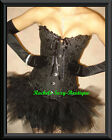 Sexy Black Corset + Tutu Set PHOTO SHOOT Ships from NEW YORK S-2XL