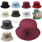 Unisex Bucket Hat Boonie Flat Fishing Hunting Outdoor Beach Cap Women Men Sunhat