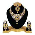 Awesome Gold Plated Indian Handmade Bridal Style Kundan Zerconic Necklace sets