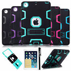 Hybrid Rubber Shockproof Heavy Duty w/Stand Case Cover For Apple iPad mini Air 2