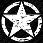 "Set of 2 -23"" Distressed Freedom Star Decal Oscar Mike Jeep Mudding Military 4x4"