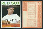 (46455) 1964 Topps 305 Jack Lamabe Red Sox-NM