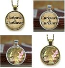 Fairy & Frog Vintage Fairytale Style Glass Cabochon Pendant Necklace Jewellery