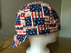 WELDING, PIPE FITTERS, BIKERS,  WELDER REVERSIBLE CAP HAT, AMERICAN FLAG,   NEW