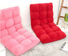 Floor Chair Comfortable Suede Cushion 5 step reclining Red Pink Brown Beige