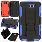 For LG Rebel 4G LTE L44VL COMBO Belt Clip Holster Case Phone Kick Stand Cover