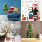 Christmas Tree Santa Removable Wall Stickers Decal Kids Bedroom Home shop Decor