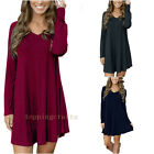 New Women Summer Fall Casual Long Sleeve Evening Party Cocktail Short Mini Dress