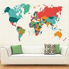Large Colorful World Map Wall Sticker Removable Vinyl Art Decals Decor 107*60cm