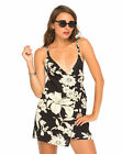 MOTEL Maiko D Ring Wrap Dress in Paradise Black and White (mr118)