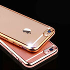 Shockproof Silicone Bumper Clear Slim Chrome Gel Case Cover For Mobile Phone
