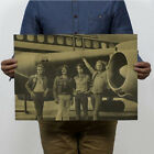 5Style Pop Music Rock Band Stars Kraft Paper Poster Bar Pub Wall Decor Retro bai