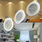 6/12x 3W/7W/12W Recessed LED Downlight Kit ceiling down spot light with Driver