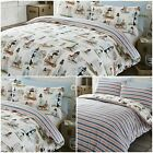 Reversible Lighthouse Striped Duvet Quilt Cover Bed Set - Single, Double or King