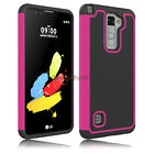 For LG Stylo 2 V VS835 Case Hybrid Armor Rubber Soccer Skin Matte Phone Cover