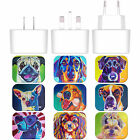 OFFICIAL DAWGART DOGS WHITE UK CHARGER & USB CABLE FOR APPLE iPAD