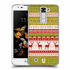 HEAD CASE DESIGNS KNITTED CHRISTMAS HARD BACK CASE FOR LG K8 / PHOENIX 2