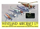 Vintage Westland Helicopters Advertising  Poster A3 Print