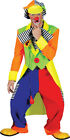 Adult Fancy Dress Stag Night Carnival Circus Colourful Clown Complete Costume UK