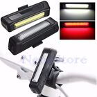 6 Modes Bicycle Bike Front Rear Light USB Rechargeable COB LED Tail Clip Lamp