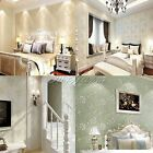 10M Baby Iris Embossed Textured Wallpaper Roll Home Decoration 4 Colors U Pick
