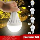 E27 5/7/9/12W Rechargeable White LED Bulb Useful Emergency Camping Hunting Light