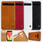 For LG V20 V 20 F800 Nillkin Leather Flip Quick View Window Cover Smart Case Bag