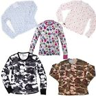 Hot Chillys Kids MTF Print Base Layer Crewneck, Many Sizes & Colors! New!