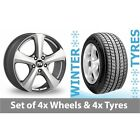 "4 x 15"" MSW (by OZ) 19 Silver Alloy Wheel Rims and Tyres -  185/65/15"