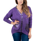 Maglierie Di Perugia V-Neck Purple Lurex Cardigan