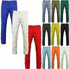 NEW MENS BOYS CHINO JEANS SLIM STRAIGHT LEG REGULAR FIT PANTS COLOURED TROUSERS