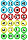 24 Bingo Balls Edible Cake Toppers Icing or Wafer