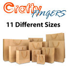 50x CRAFT BROWN PAPER GIFT CARRY SHOPPING BAGS BULK 11 DIFFERENT SIZES
