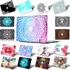 "MATT Rubberized Printed CUT-OUT Hard Case Cover For Macbook Air 11""12"" Pro 13""15"