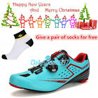DS Men's Cycling Carbon Fiber Soles Shoes Breathable Road Bicycle Bike Shoes021B