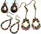 CHOICE OF MULTI COLOUR SPARKLY CRYSTAL EARRINGS BUY 2 GET 1 FREE