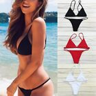 New Brazilian Women Triangle Push-up Bra Bikini Set Beach Swimsuit Swimwear FO