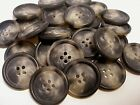 Lots of 12/ 25 Gray Black Buttons Coat,Jacket sizes 1 inch,7/8, 13/16, 1/2 #280