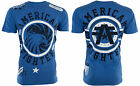 AMERICAN FIGHTER Men T-Shirt BRADLEY Eagle ROYAL BLUE Athletic Biker MMA $40 image