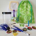 BUG CATCHER EXPLORER BAG Insect KIT Magnifying glass viewer net torch kids child