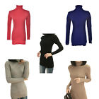 Women Slim Turtleneck Long Knit Solid Color Pullover Outwear Tops Sweater New