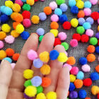 DIY100pcs 1.5cm 2cm 3cm Multi-color pompon balls Flower Crafts Toy accessories