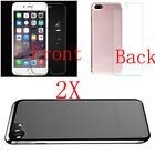 2XPremium Front and Back Tempered Glass Film Screen Protector For iPhone 7 7Plus