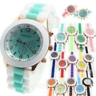 unisex jelly wristwatch colorful birthday gift Ladies Two Tone Silicon Watch