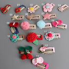 1 Pcs Cute Tiny Baby Safety Hair Clips Snaps Grosgrain Ribbon 13 Designs